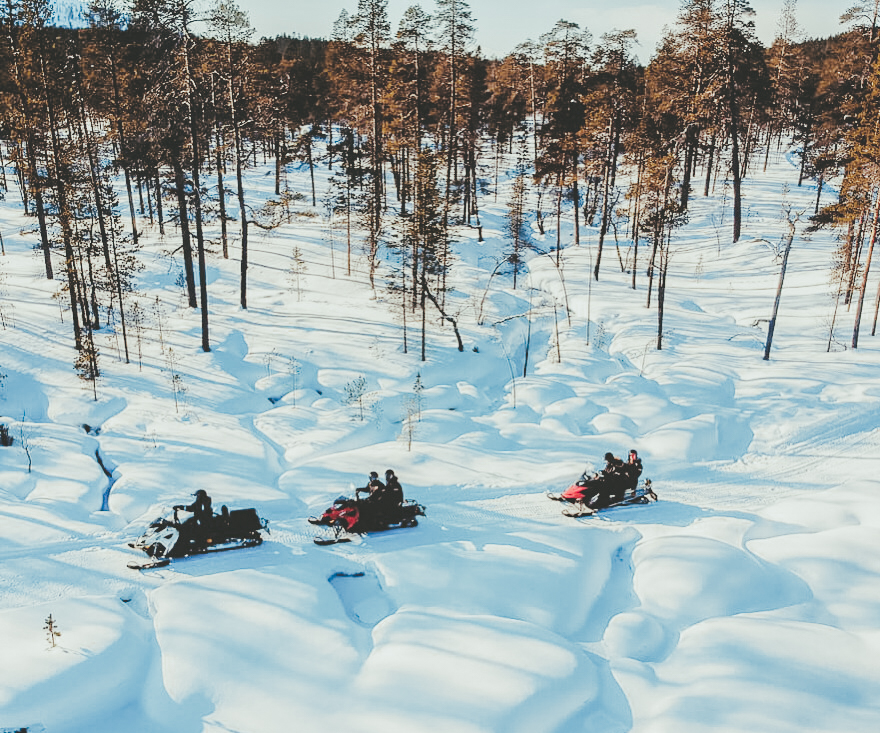 Snowscooters in Lapland Finland