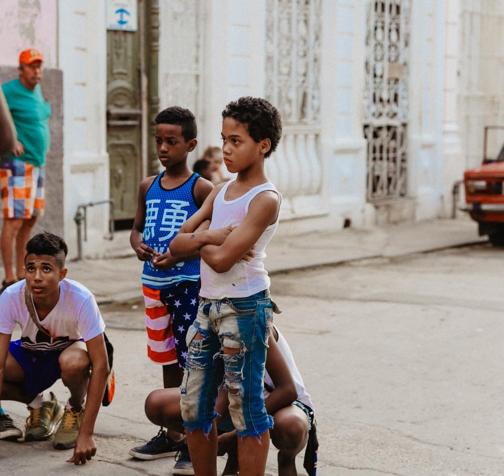 havana streets old town cuba kids