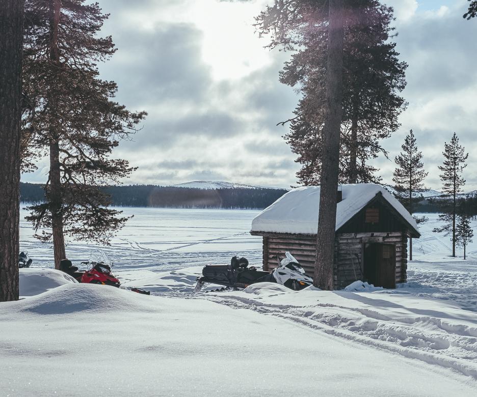 Lapland Finland winter landscape